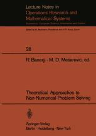 Theoretical Approaches to Non-Numerical Problem Solving