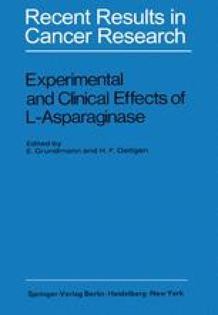 Experimental and Clinical Effects of L-Asparaginase