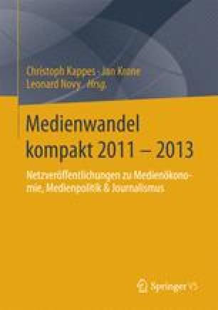 Medienwandel kompakt 2011 - 2013