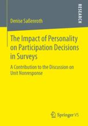 The Impact of Personality on Participation Decisions in Surveys