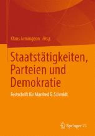 Staatstätigkeiten, Parteien und Demokratie