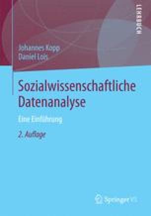 Sozialwissenschaftliche Datenanalyse
