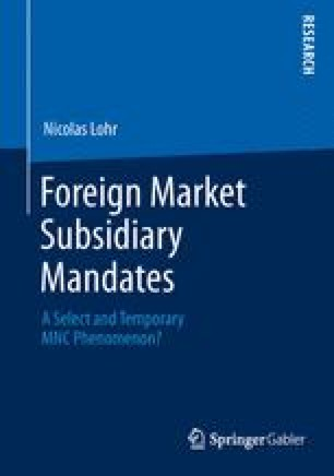 Foreign Market Subsidiary Mandates