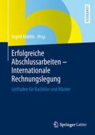 Erfolgreiche Abschlussarbeiten - Internationale Rechnungslegung