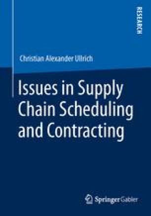Issues in Supply Chain Scheduling and Contracting