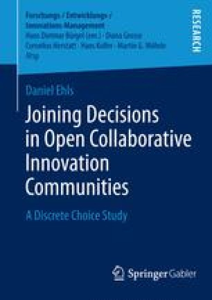 Joining Decisions in Open Collaborative Innovation Communities