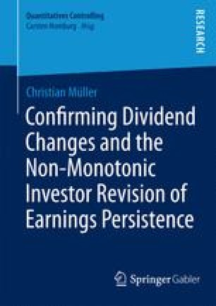 Confirming Dividend Changes and the Non-Monotonic Investor Revision of Earnings Persistence