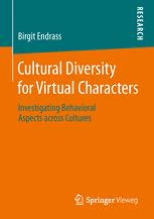 Cultural Diversity for Virtual Characters