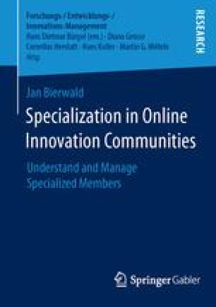 Specialization in Online Innovation Communities