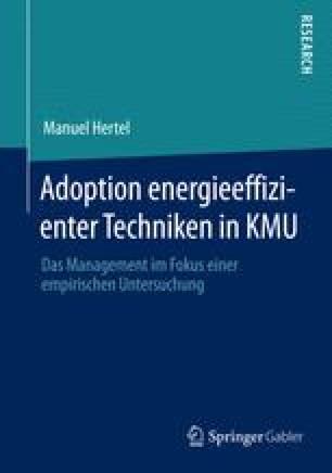 Adoption energieeffizienter Techniken in KMU
