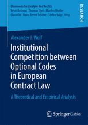 Institutional Competition between Optional Codes in European Contract Law