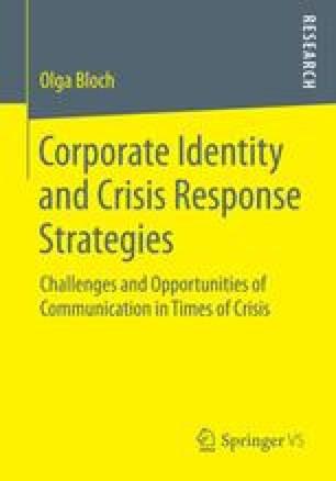 Corporate Identity and Crisis Response Strategies
