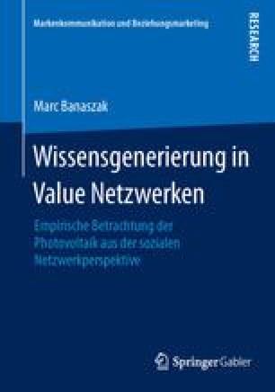 Wissensgenerierung in Value Netzwerken