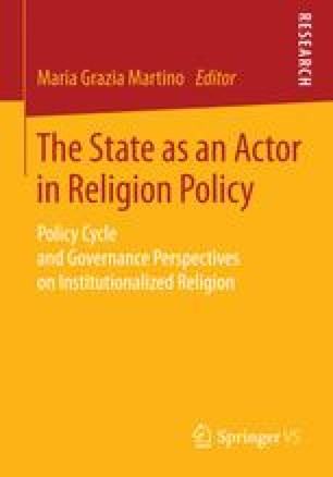 The State as an Actor in Religion Policy