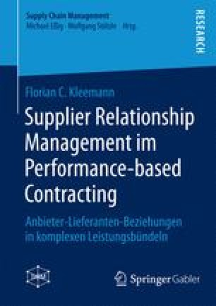 Supplier Relationship Management im Performance-based Contracting