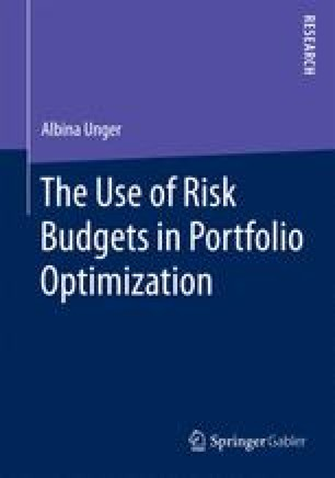 The Use of Risk Budgets in Portfolio Optimization