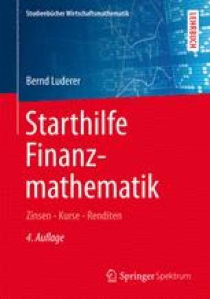 Starthilfe Finanzmathematik