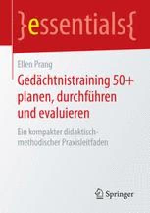 Gedächtnistraining 50+ planen, durchführen und evaluieren