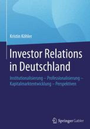 Investor Relations in Deutschland