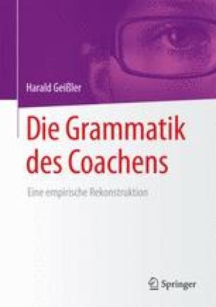 Die Grammatik des Coachens
