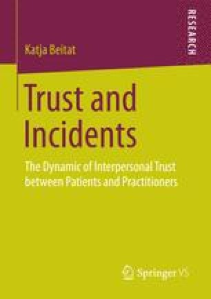 Trust and Incidents