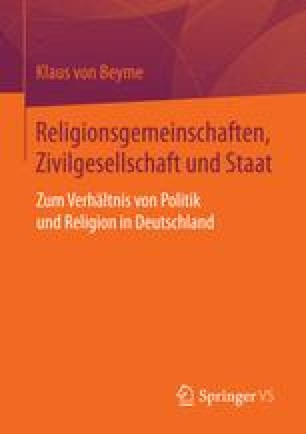 Religionsgemeinschaften, Zivilgesellschaft und Staat