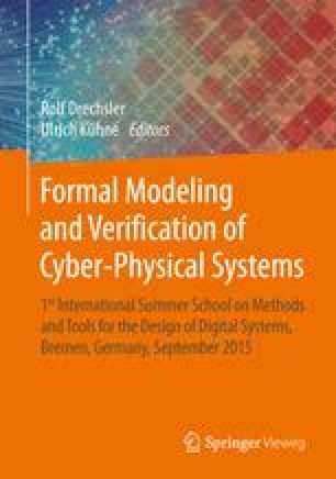Formal Modeling and Verification of Cyber-Physical Systems