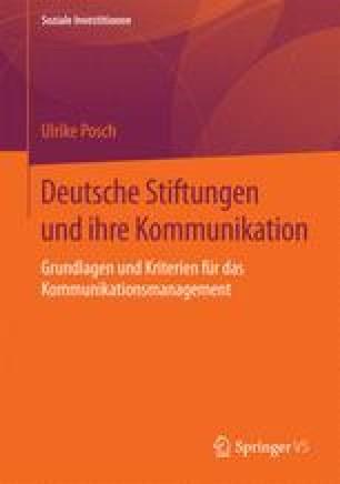 Deutsche Stiftungen und ihre Kommunikation