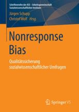 Nonresponse Bias