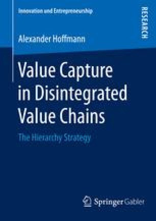 Value Capture in Disintegrated Value Chains