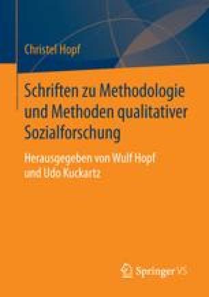 Schriften zu Methodologie und Methoden qualitativer Sozialforschung