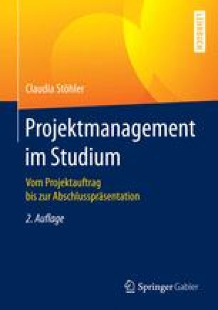 Projektmanagement im Studium