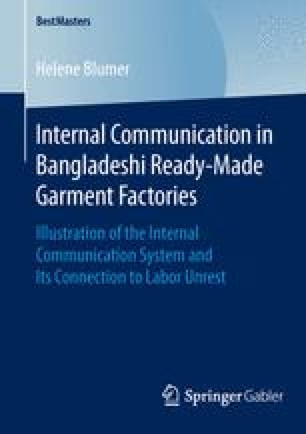 Internal Communication in Bangladeshi Ready-Made Garment Factories
