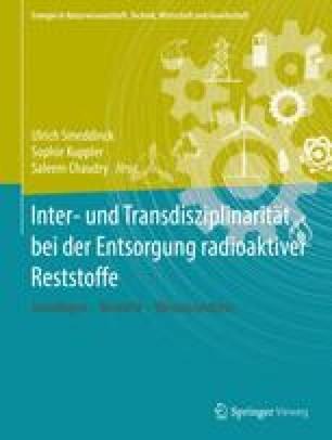 Inter- und Transdisziplinarität bei der Entsorgung radioaktiver Reststoffe