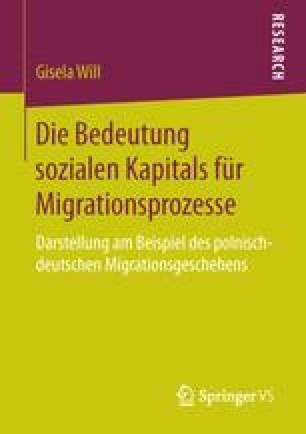 Die Bedeutung sozialen Kapitals für Migrationsprozesse