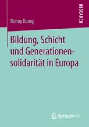 Bildung, Schicht und Generationensolidarität in Europa