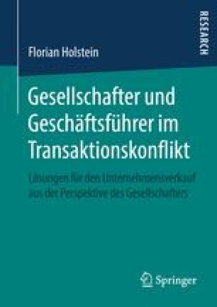 Gesellschafter und Geschäftsführer im Transaktionskonflikt