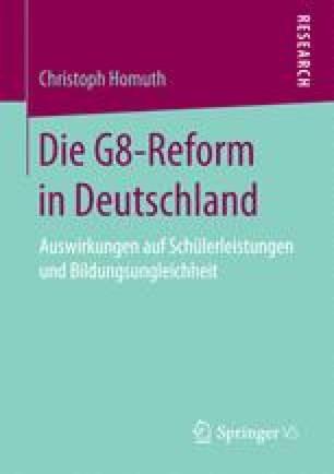 Die G8-Reform in Deutschland