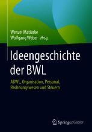 Ideengeschichte der BWL