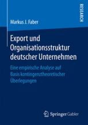 Export und Organisationsstruktur deutscher Unternehmen