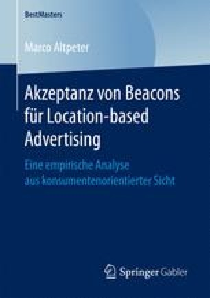 Akzeptanz von Beacons für Location-based Advertising