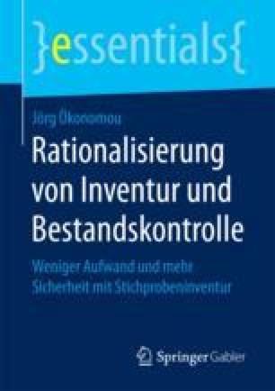 Rationalisierung von Inventur und Bestandskontrolle