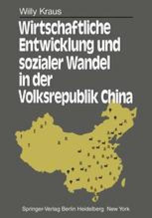 Wirtschaftliche Entwicklung und sozialer Wandel in der Volksrepublik China