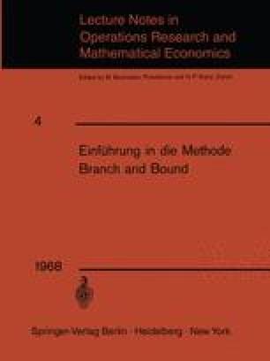 Einführung in die Methode Branch and Bound