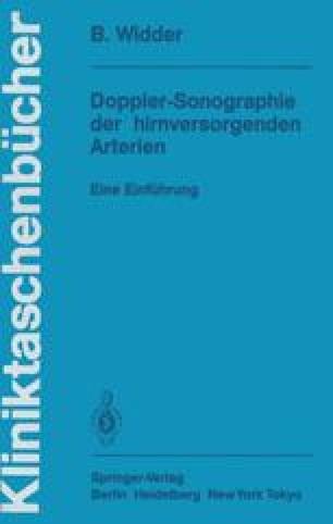 Doppler-Sonographie der hirnversorgenden Arterien