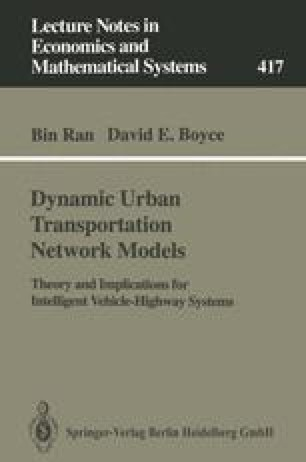 Dynamic Urban Transportation Network Models