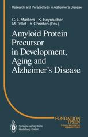 Amyloid Protein Precursor in Development, Aging and Alzheimer's Disease