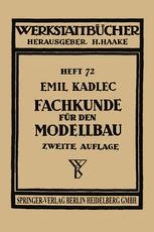 Fachkunde für den Modellbau