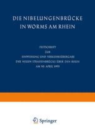Die Nibelungenbrücke in Worms am Rhein