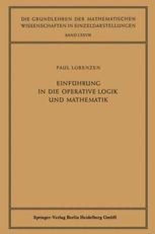 Einführung in die Operative Logik und Mathematik